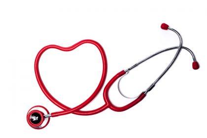 Stethescope in shape of a heart